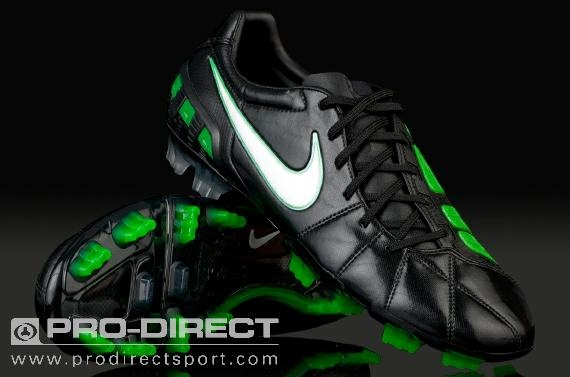 Nike Football Boots - Total 90 Laser III FG - Firm Ground - Soccer Cleats - Black/White/Electric Green