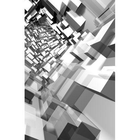 3-D Boxes Canvas Art - Ryan Briscall Design Pics (22 x 34)