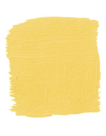 """""""In a guest room that seems a little staid, paint the bed. This is a Ming yellow like you see in Chinese silk robes, with a little lemon and mustard in it, which gives it more dimension."""" -Kim Alexandriuk Pictured, Farrow & Ball's Babouche 223   - HouseBeautiful.com"""