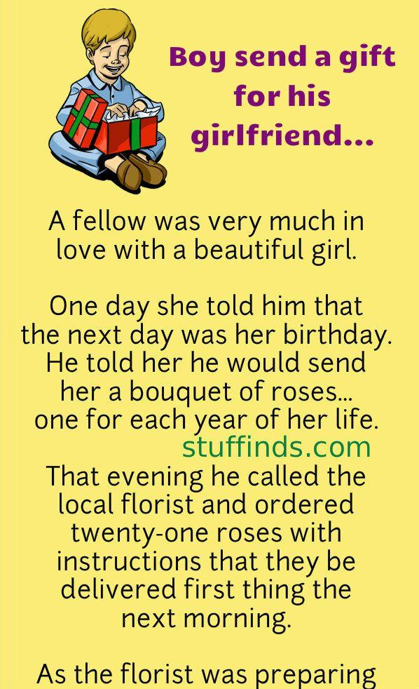 Boy Send A Gift For His Girlfriend In 2020 Funny Work Jokes Work Jokes Marriage Jokes