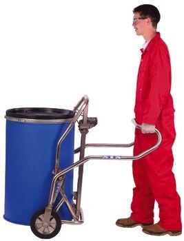 Drum Trolley, Stainless Steel 50-230 Liter cap   Spacepac Industries