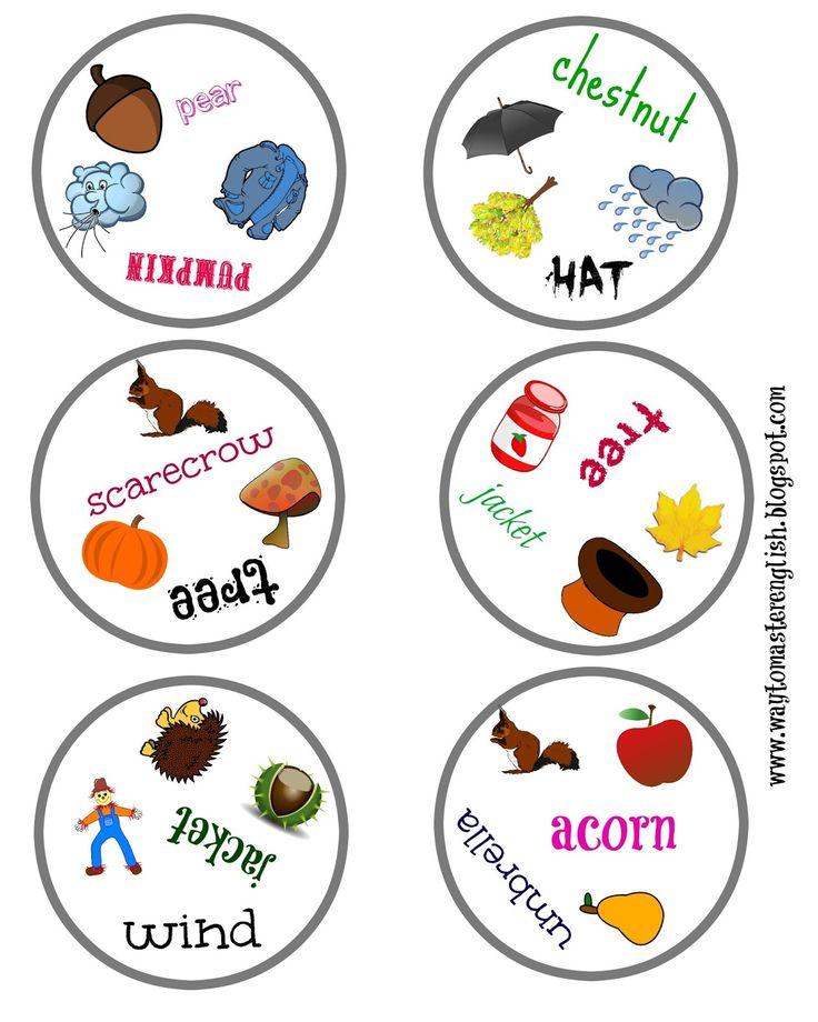 http://waytomasterenglish.blogspot.com/  dobble, autumn, game, vocabulary, children, kids