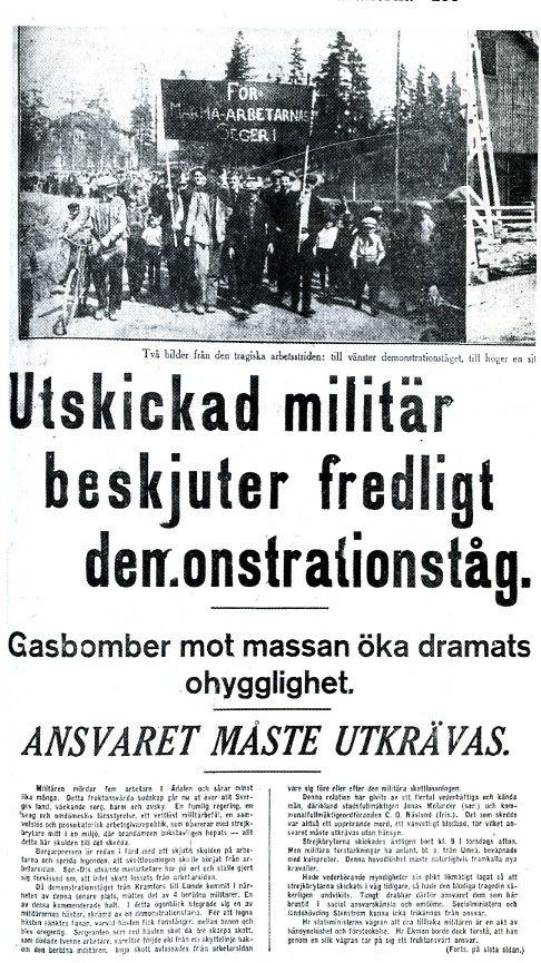 Ådalen 1931. Military kills five workers.