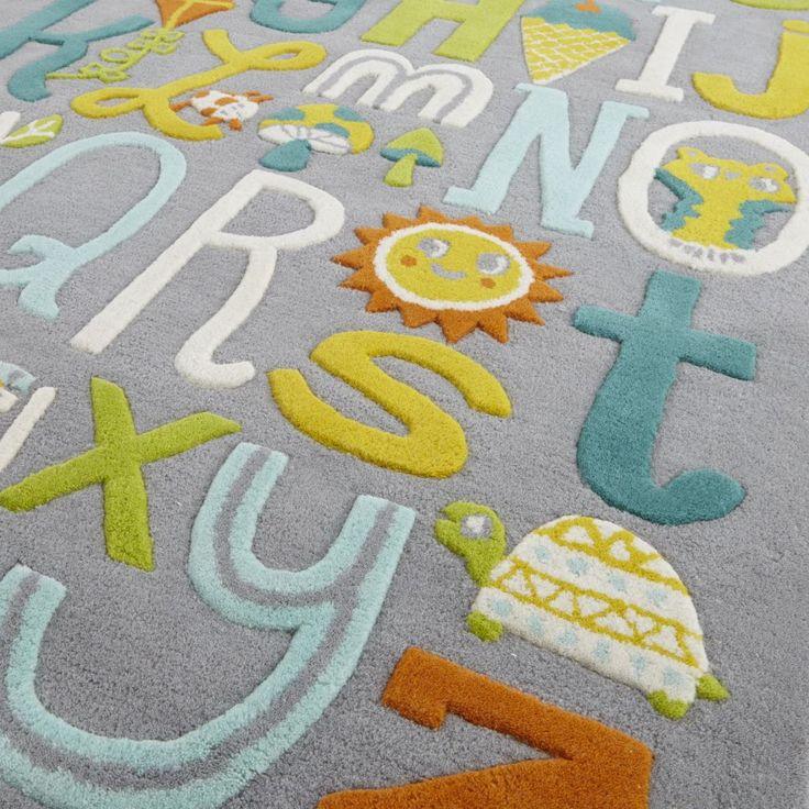 Allison Cole Alphabet Wool Rug