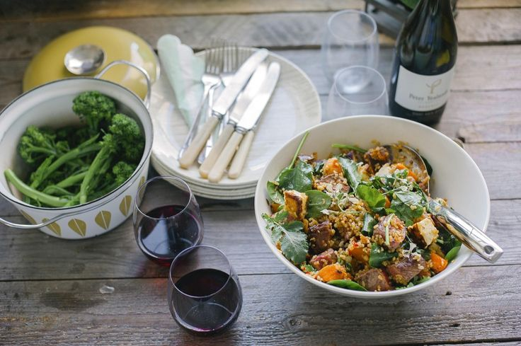 Bulgur wheat salad with haloumi, kumara and beef | Good Magazine