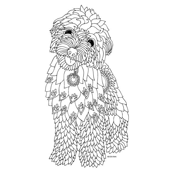 The Dog printable coloring page