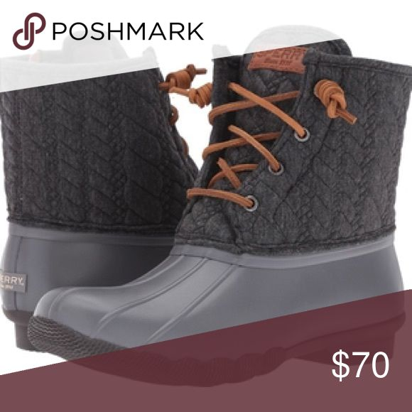 NWT [Sperry] Top-Sider Saltwater Duck Boot - 6M BRAND NEW, unworn in original box. The versatile style of the Sperry Saltwater Rope Emboss Neoprene boot keeps you warm and protected in the unpredictable seasonal weather. Sperry Shoes Rain & Snow Boots
