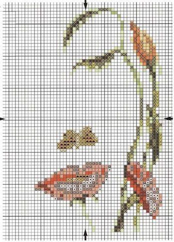 Schema di ricamo fronte-fiori (Klart)