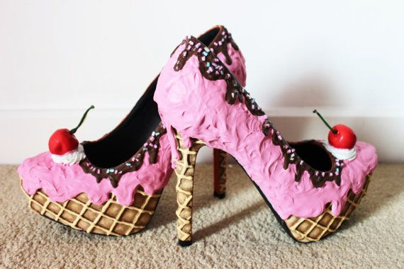 Pink Strawberry Ice Cream Shoes