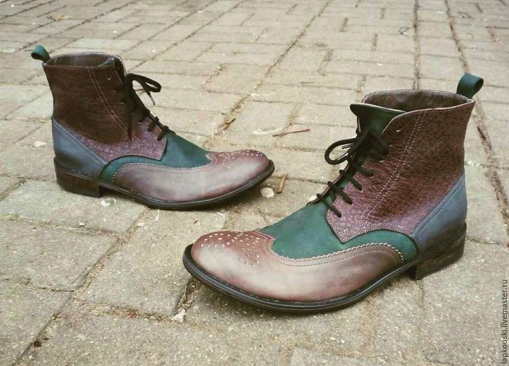 Купить Мужские ботинки - мужская обувь, Обувь из кожи, деловая обувь, повседневная обувь