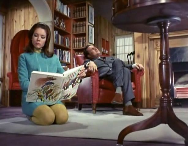 "Emma Peel and John Steed in The Avengers' episode ""The winged avenger"""