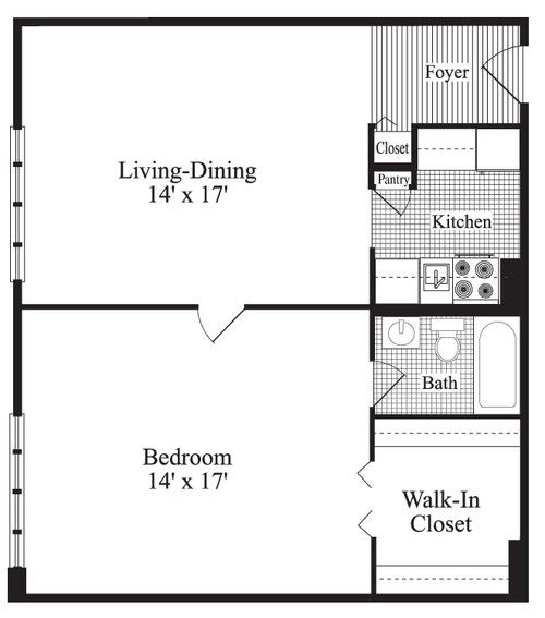 287 best images about small space floor plans on pinterest for Small 1 bedroom apartment floor plans