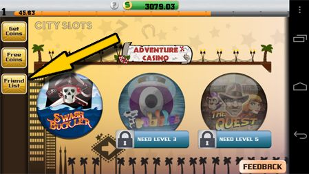 New Friends Bonus on City Slots - the awesome Android Slots Game