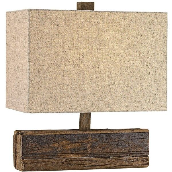 Currey and Company Structure Rustic Natural Wood Table Lamp ($320) ❤ liked on Polyvore featuring home, lighting, table lamps, brown, outdoor table lamps, outside lamps, brown lamps, rustic wooden lamps and rustic lamps