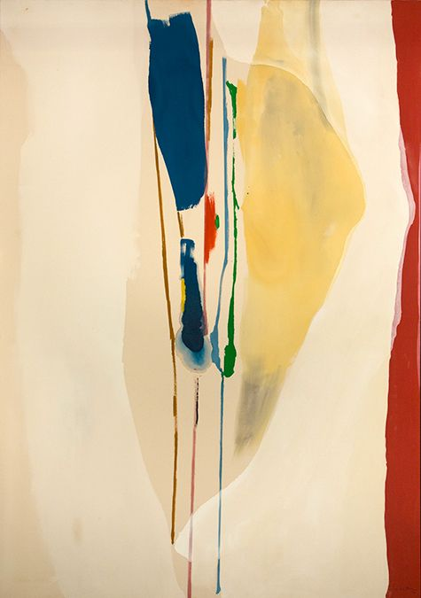 Artworks by pioneering Abstract Expressionist Helen Frankenthaler are currently on view at the Clark Art Institute include Summer Harp, 1973  top, Madame Butterfly, 2000 (© Tyler Graphics Ltd., Mount Kisco, New York).