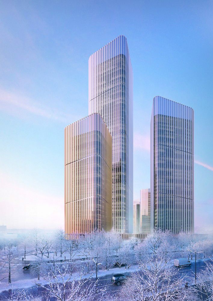 Changchun CBD - Courtesy of HENN  ~ Great pin! For Oahu architectural design visit http://ownerbuiltdesign.com