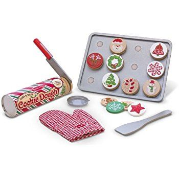AmazonSmile: Melissa & Doug Slice and Bake Wooden Christmas Cookie Play Food Set: Melissa & Doug: Toys & Games