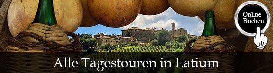 Tagestouren in der Region Latium, Besichtigung mit Reiseführer, Kochkurse, Weinproben, Wanderungen, Fahrradtouren und Transfers. http://www.italien-inseln.de/italia/latium-lazio/tagestour.html
