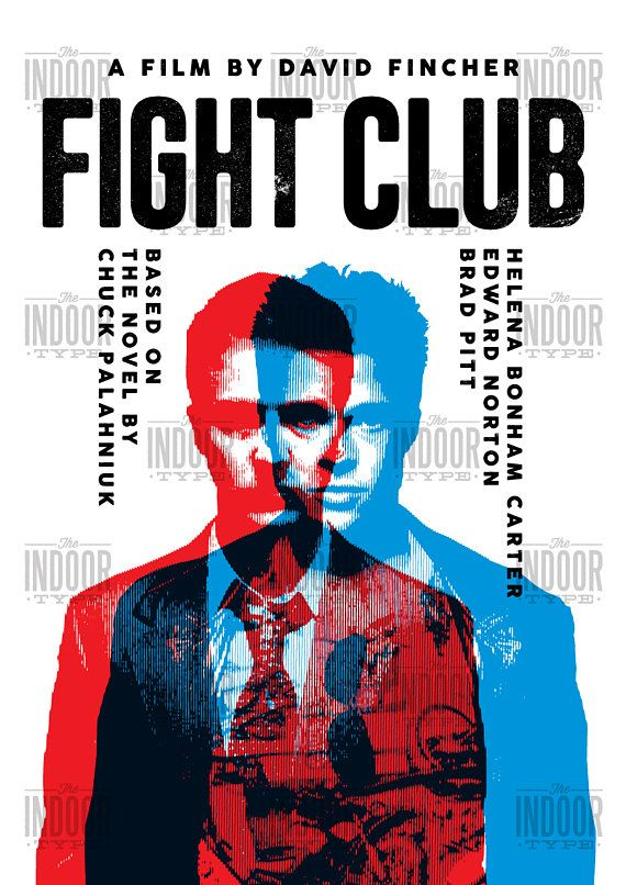fight club poster  Fight Club reimagined poster print. This film poster print would be ...