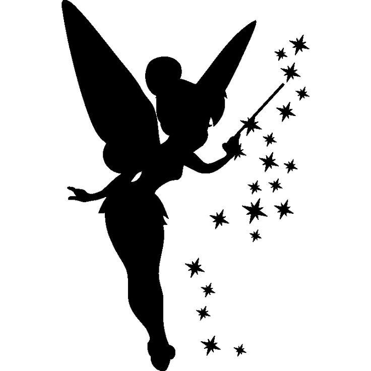 Pegatinas de siluetas y personajes – Pegatina hada y estrellas / ambiente-liv …