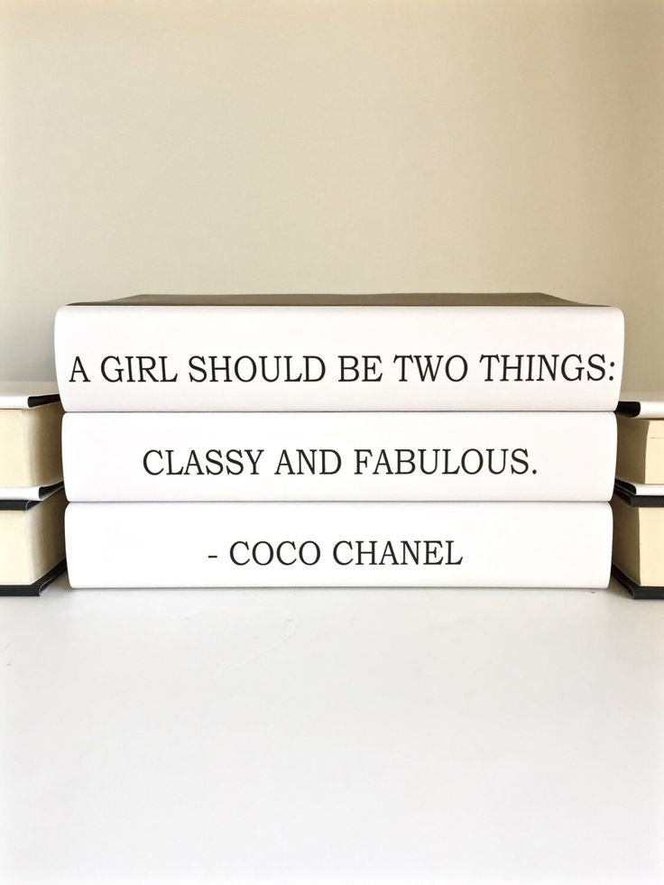 Chanel, Chanel Books, Coco Chanel Quote Decorative Books, Classy and Fabulous, Chanel Decor, Friend Gift, Book Lover Gift, Housewarming Gift by ArtfulLibrary on Etsy https://www.etsy.com/listing/260986981/chanel-chanel-books-coco-chanel-quote