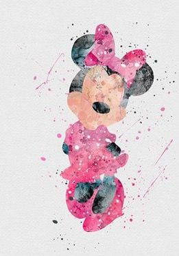 Minnie watercolor