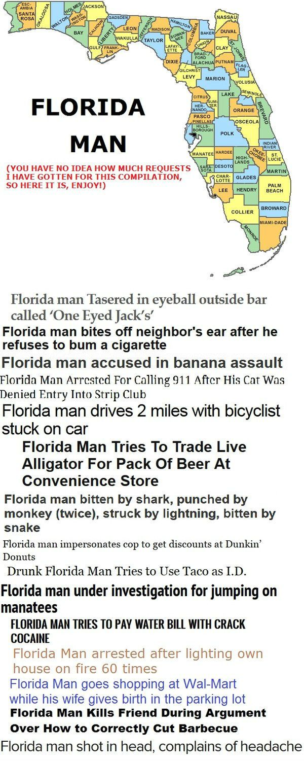 Florida Man Or As I Like To Call It – 16 Reasons Why I'll Never Visit Florida