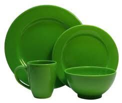 Features:  -Dishwasher safe.  -Ceramic construction.  -Service For: 4.  -Set Includes: (4) Dinner Plates; (4) Salad Plates; (4) Soup/Cereal Bowls; (4) Mugs.  Style: -Contemporary.  Number of Items Inc