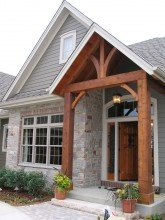 Craftsman Style Open Curved Beam Entry Exterior