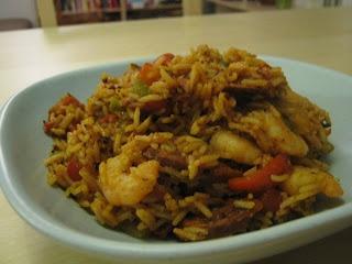 Hiszpanski ryz z krewetkami z patelni