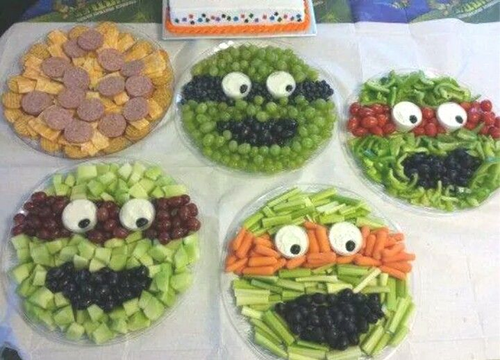 Ninja Turtle Snack Trays!