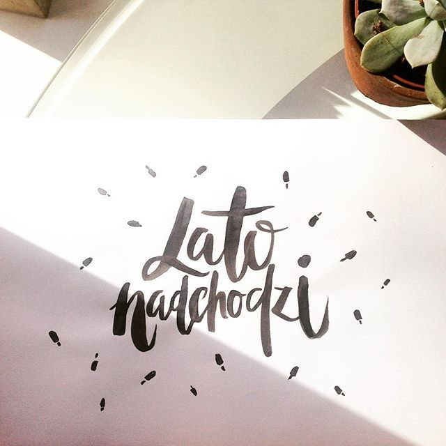 Lato od rana! #daybydaylettering #day11 #letteringchallenge #lato @zenjablog - #lettering #typography #handlettering #summer