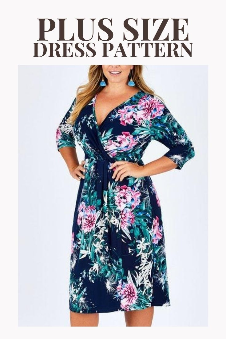 Pdf Dress Pattern Sewing Patterns Plus Size Clothes Patterns Diy Crafts Wrap Dress Clothes For Women Clothing Patterns Clothes [ 1102 x 735 Pixel ]