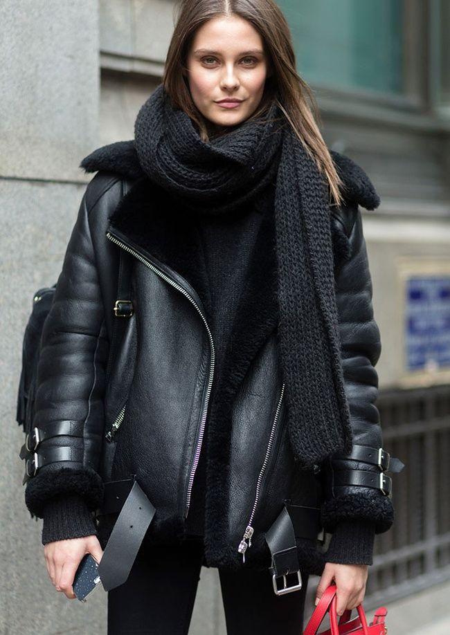 Ladies leather gloves navy blue - Les 25 Meilleures Id 233 Es Concernant Blouson Aviateur Femme Sur