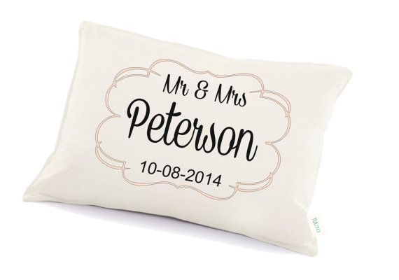 Mr & Mrs pillow cushion Personalized pillow Anniversary by Tulito