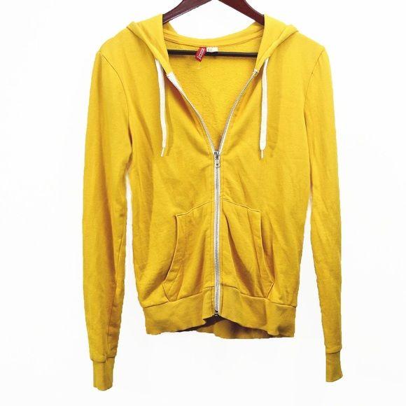 Yellow zip up hoodie