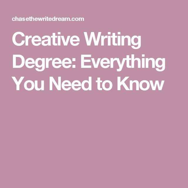 Creative Writing Degree: Everything You Need to Know