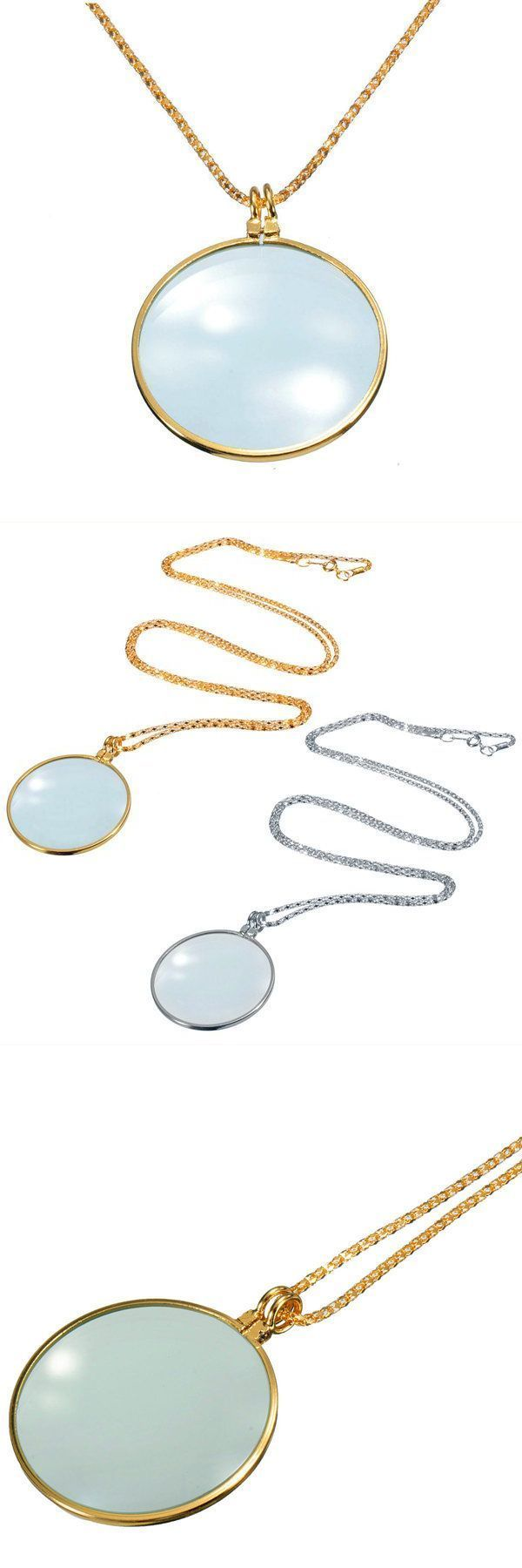 Necklace pendants engraved 5x silver gold magnifier magnifying glass pendant necklace #cheap #necklace #pendants #in #india #necklace #pendants #tiffany #necklace #pendants #with #quotes #necklace #pendants #without #chain