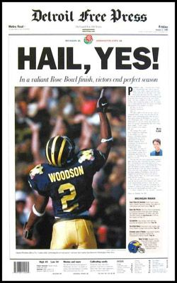 1997 Rose Bowl Game, University of Michigan perfect football season! First college football game I watched, and been a loyal fan ever since!! GO BLUE!!!