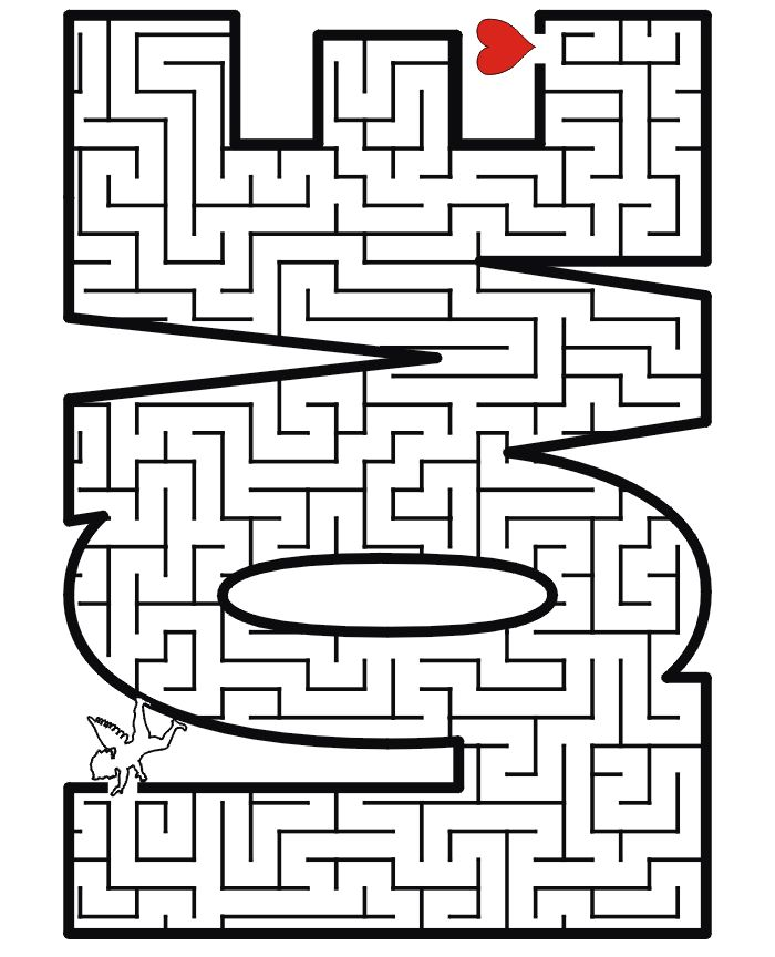 Valentine's day printable maze for your 4-7 yo!