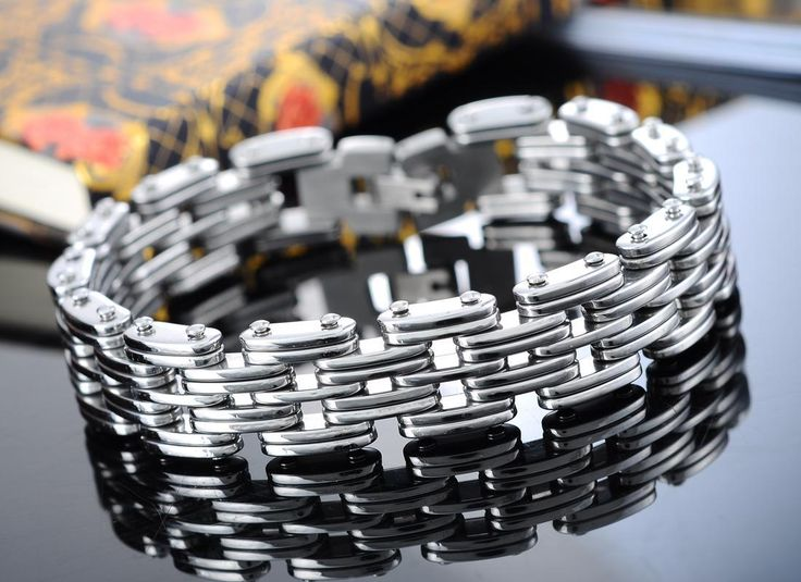 Find More Chain & Link Bracelets Information about 3Ss 2016 New 1PC Stainless Steel Silver Tone Men's Mechanic Chain Bracelet 21.5cm Long For Men Over $125 Free Express,High Quality steel chest,China bracelet stainless steel Suppliers, Cheap steel from Shining Stainless Steel Jewelry on Aliexpress.com