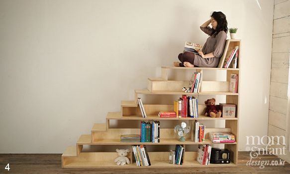 feng shui: Ideas, Bookshelves, Bookcases, Stair Bookcase, Reading Nooks, Book Shelves, House, Place, Birch Stair
