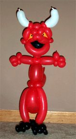 Halloween Balloon Animal Devil