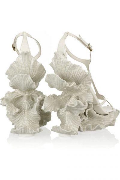 Originales Zapatos de Novia de Alexander McQueen.
