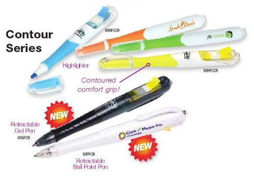The Post-It Flag + Retractable Ball Point Pen with highlighter. Great feel and and a wide selection of colours available.