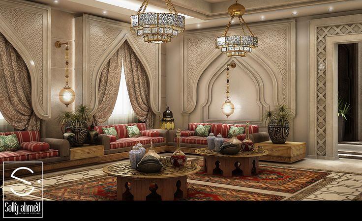Oriantal Majilis Ksa On Behance Interiors Arabic