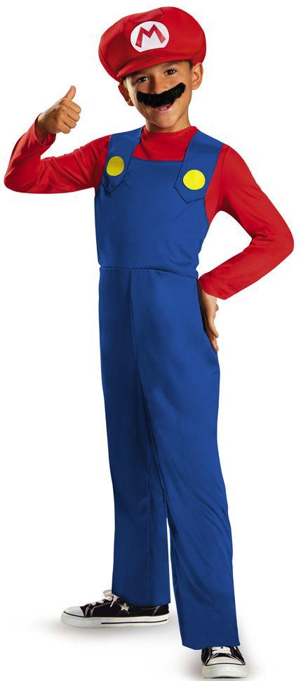 ¡Disfraz de Super Mario para niño, económico y con una calidad excelente! Disfrázate de Mario Bros en Carnaval o durante una fiesta de disfraces con temática de videojuegos!