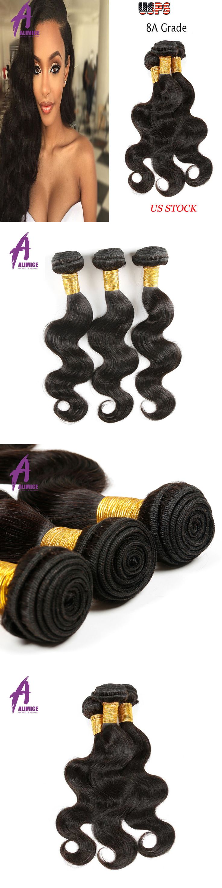 Hair Extensions: 8A Brazilian Remy Body Wave100% Human Hair Extensions Weave Weft 3Bundles 300G -> BUY IT NOW ONLY: $89.77 on eBay!