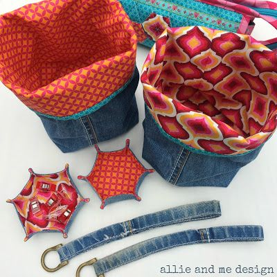 Allerlei aus alter Jeans / Lots of pretty things made from old pair of jeans / Upcycling