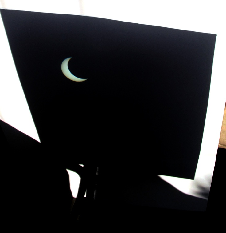 Today's solar eclipse in Lakewood, California...May 20, 2012---photo by Mark W. Patterson